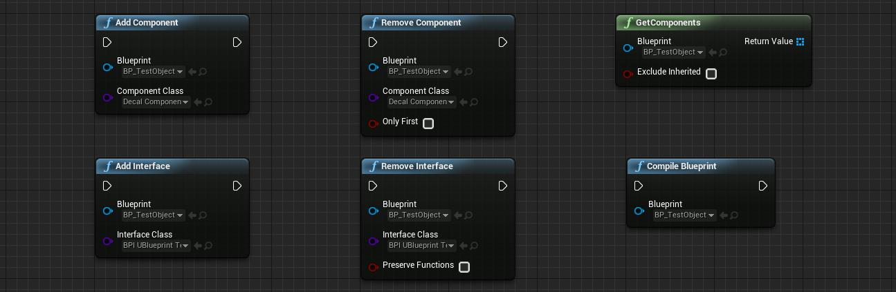 Blueprint Object nodes